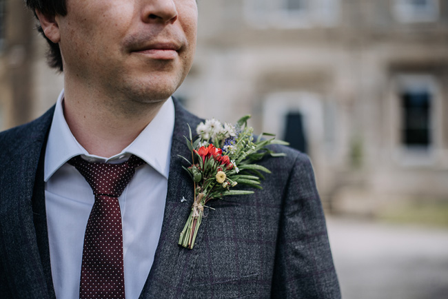 A fabulous bouquet for Nick & Katherine's designer wedding at Cleatham Hall, photography by Kazooieloki (5)