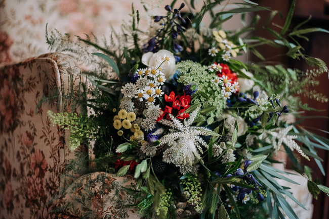 A fabulous bouquet for Nick & Katherine's designer wedding at Cleatham Hall, photography by Kazooieloki (24)