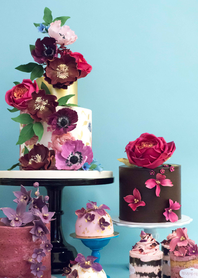 Tiered and single tier wedding cake inspiration by Rosalind Miller Cakes (5)