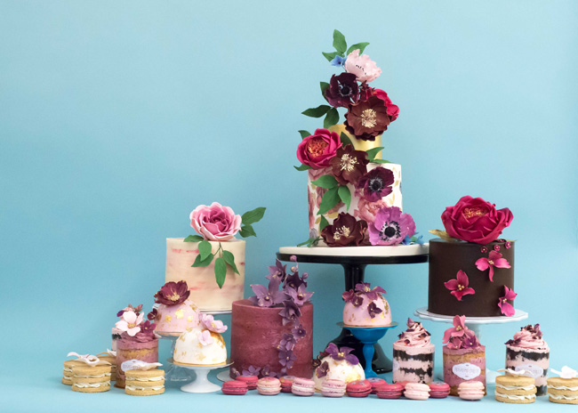 Tiered and single tier wedding cake inspiration by Rosalind Miller Cakes (6)