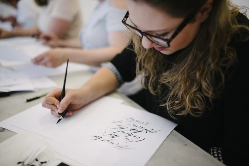 Learn calligraphy in Manchester - workshops throughout the year with By Moon & Tide Calligraphy - image credit Inbetween Days Photography (10)