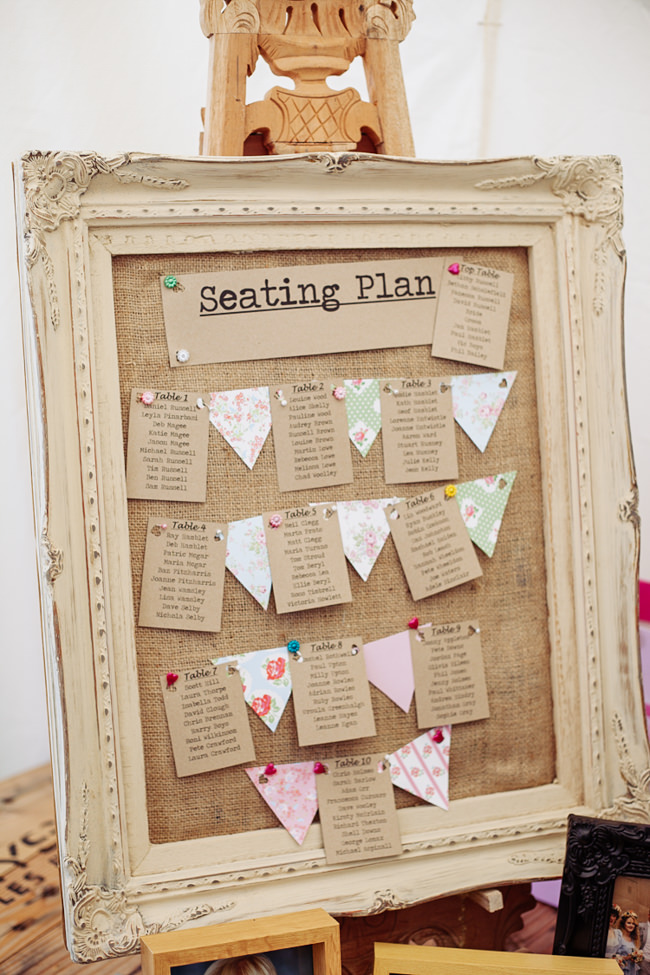 Bunting and vintage china for a garden party summer wedding, with Delicious Photography in Lancashire (31)
