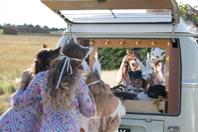 Hire a fun vintage VW photo booth for your UK wedding (5)