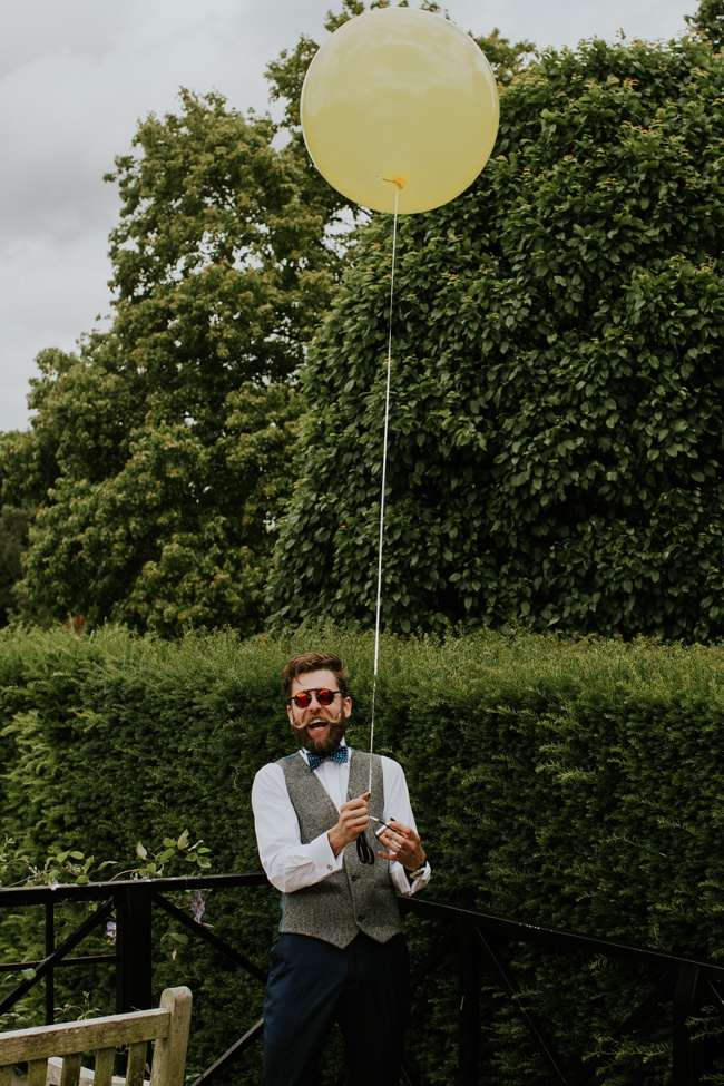 Campervan, balloons, dickie bows and elegance for an English summer wedding, with Craig Williams Photography (7)