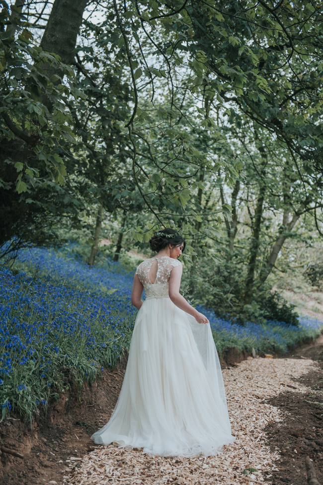 Bluebells and elegant Derbyshire wedding styling ideas and suppliers, image credit Rosie Kelly Photography (15)