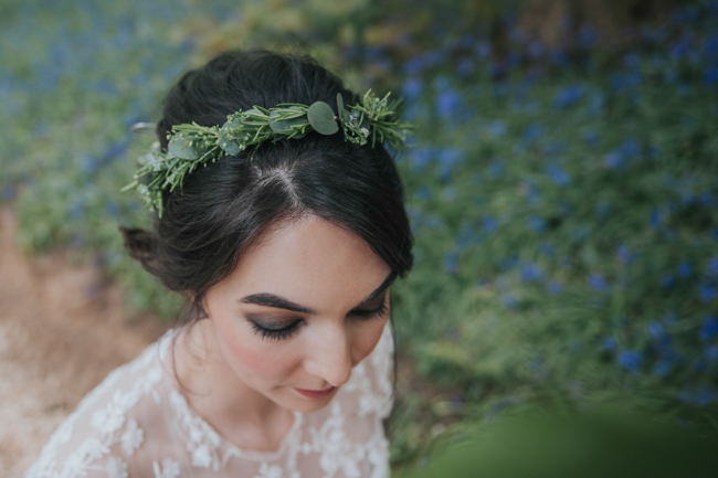 Bluebells and elegant Derbyshire wedding styling ideas and suppliers, image credit Rosie Kelly Photography (17)