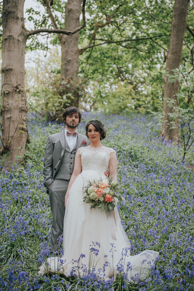 Bluebells and elegant Derbyshire wedding styling ideas and suppliers, image credit Rosie Kelly Photography (19)