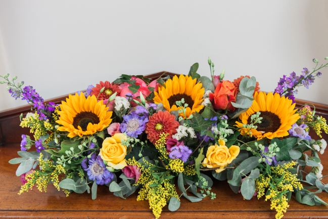 Sunflowers and colourful summer styling for a Lemore House wedding with Amanda karen Photography (46)