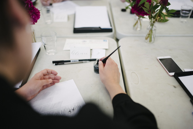 Claire Gould calligraphy workshops for beginners, Manchester Craft and Design Centre (5)