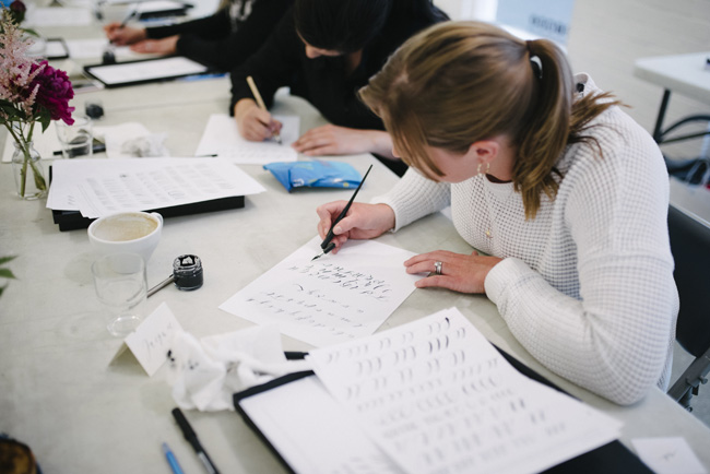 Claire Gould calligraphy workshops for beginners, Manchester Craft and Design Centre (3)