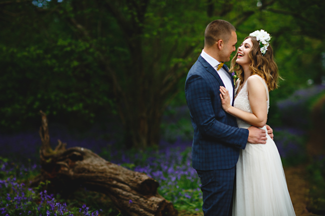 Woodland romance and beautiful bluebells for a Derbyshire wedding shoot with HBA Photography (1)