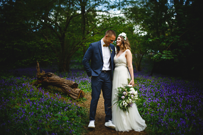 Woodland romance and beautiful bluebells for a Derbyshire wedding shoot with HBA Photography (2)