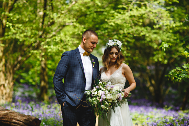 Woodland romance and beautiful bluebells for a Derbyshire wedding shoot with HBA Photography (3)