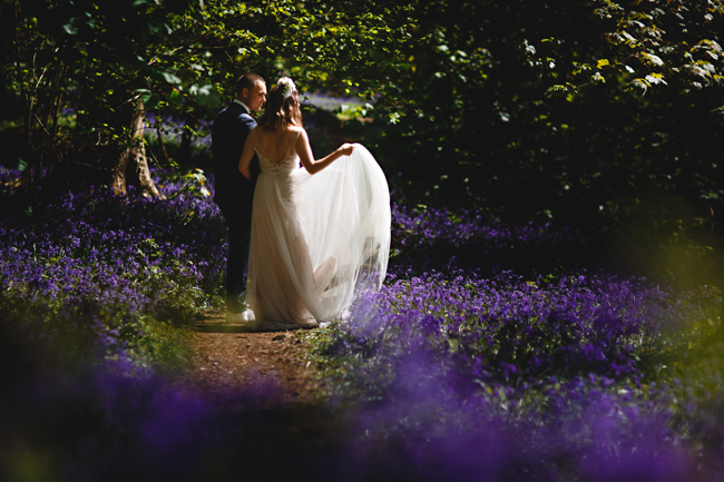 Woodland romance and beautiful bluebells for a Derbyshire wedding shoot with HBA Photography (4)
