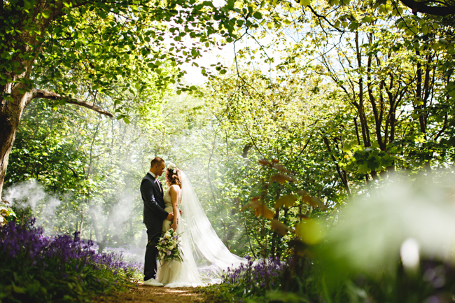 Woodland romance and beautiful bluebells for a Derbyshire wedding shoot with HBA Photography (7)