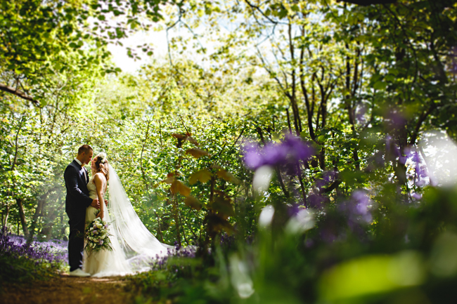 Woodland romance and beautiful bluebells for a Derbyshire wedding shoot with HBA Photography (8)