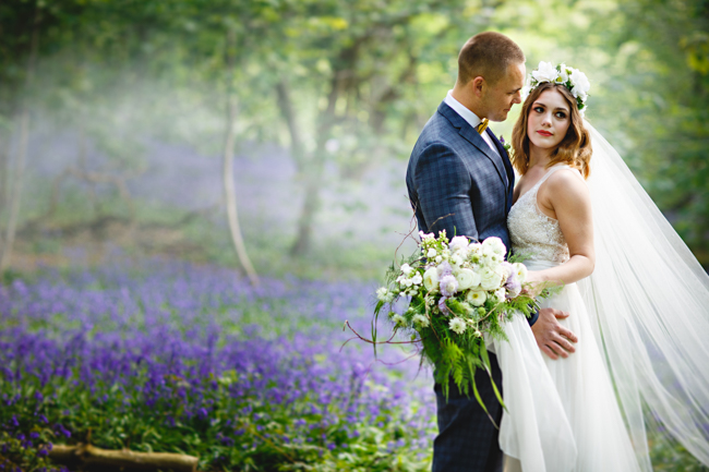 Woodland romance and beautiful bluebells for a Derbyshire wedding shoot with HBA Photography (9)