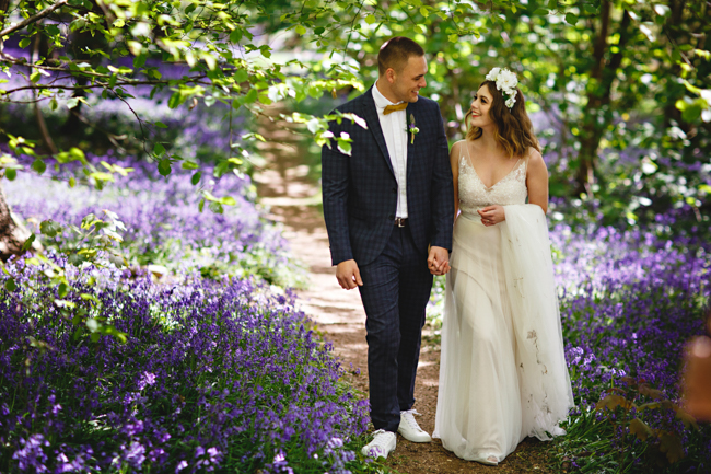 Woodland romance and beautiful bluebells for a Derbyshire wedding shoot with HBA Photography (10)