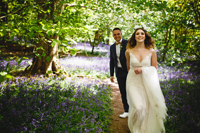 Woodland romance and beautiful bluebells for a Derbyshire wedding shoot with HBA Photography (11)