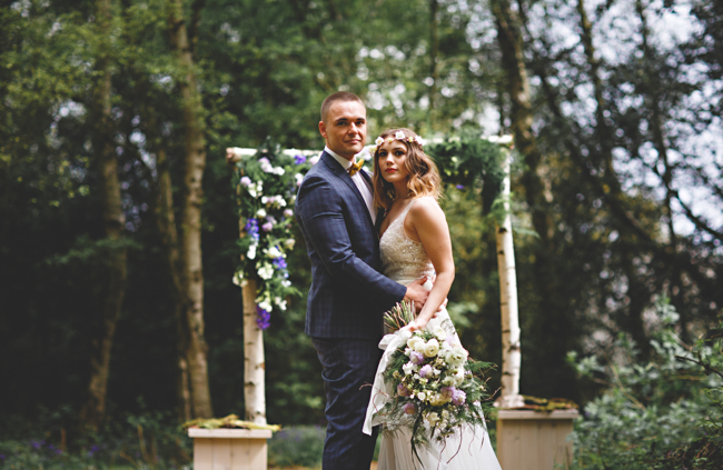Woodland romance and beautiful bluebells for a Derbyshire wedding shoot with HBA Photography (15)