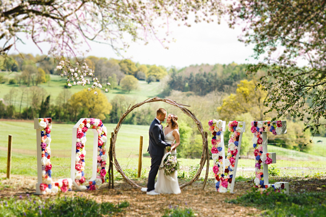 Woodland romance and beautiful bluebells for a Derbyshire wedding shoot with HBA Photography (19)
