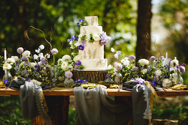 Woodland romance and beautiful bluebells for a Derbyshire wedding shoot with HBA Photography (24)