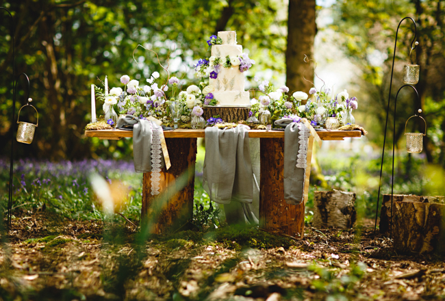 Woodland romance and beautiful bluebells for a Derbyshire wedding shoot with HBA Photography (25)