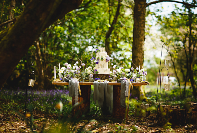 Woodland romance and beautiful bluebells for a Derbyshire wedding shoot with HBA Photography (26)