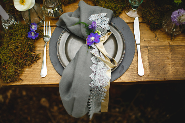 Woodland romance and beautiful bluebells for a Derbyshire wedding shoot with HBA Photography (27)