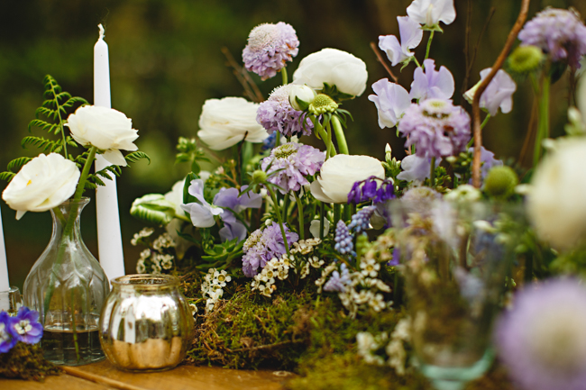 Woodland romance and beautiful bluebells for a Derbyshire wedding shoot with HBA Photography (29)