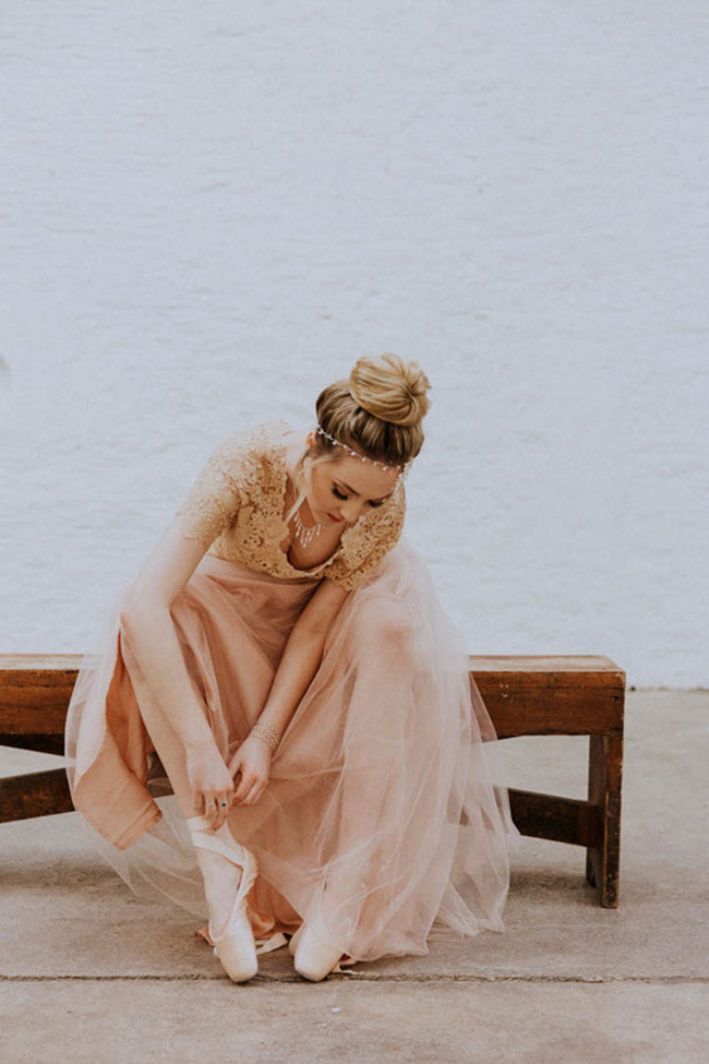 Modern ballet; bridal inspiration with a gorgeous twist. Image credit Oxi Photography (9)