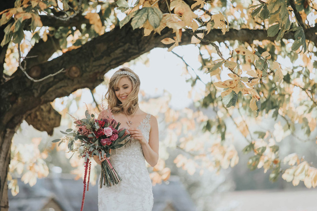Bold florals, textures and accents from nature - autumn wedding styling ideas with Oobaloos Photography (31)