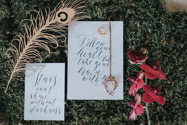 Bold florals, textures and accents from nature - autumn wedding styling ideas with Oobaloos Photography (27)