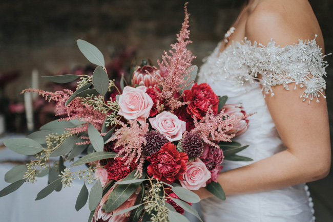 Bold florals, textures and accents from nature - autumn wedding styling ideas with Oobaloos Photography (18)
