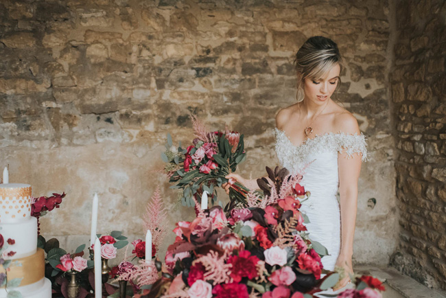 Bold florals, textures and accents from nature - autumn wedding styling ideas with Oobaloos Photography (17)