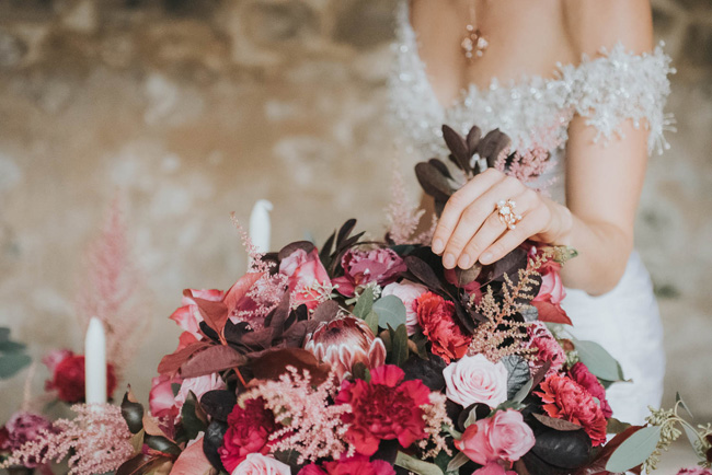 Bold florals, textures and accents from nature - autumn wedding styling ideas with Oobaloos Photography (16)