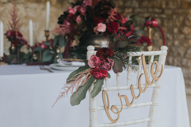 Bold florals, textures and accents from nature - autumn wedding styling ideas with Oobaloos Photography (12)