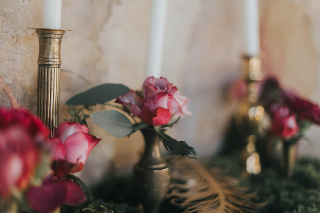Bold florals, textures and accents from nature - autumn wedding styling ideas with Oobaloos Photography (11)