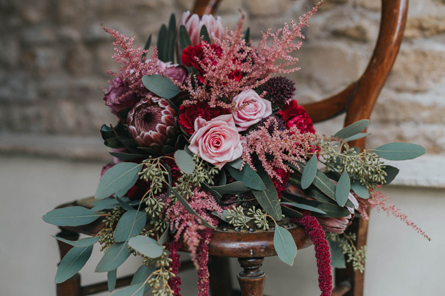 Bold florals, textures and accents from nature - autumn wedding styling ideas with Oobaloos Photography (10)