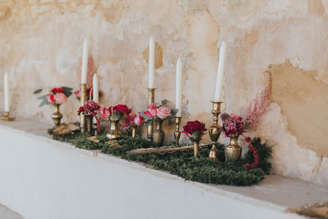 Bold florals, textures and accents from nature - autumn wedding styling ideas with Oobaloos Photography (1)