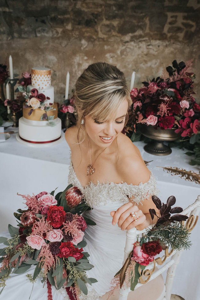 Bold florals, textures and accents from nature - autumn wedding styling ideas with Oobaloos Photography (39)