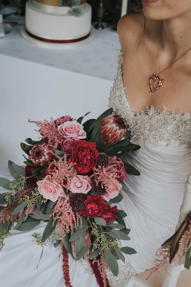 Bold florals, textures and accents from nature - autumn wedding styling ideas with Oobaloos Photography (38)