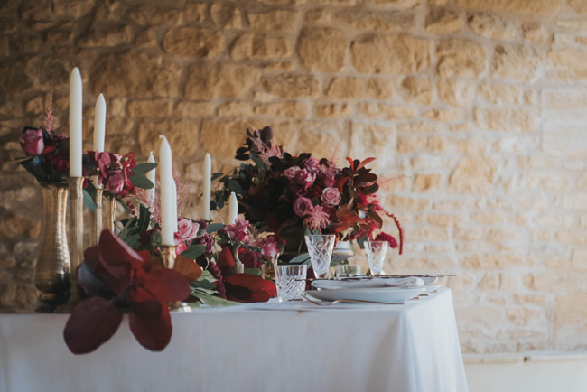 Bold florals, textures and accents from nature - autumn wedding styling ideas with Oobaloos Photography (37)