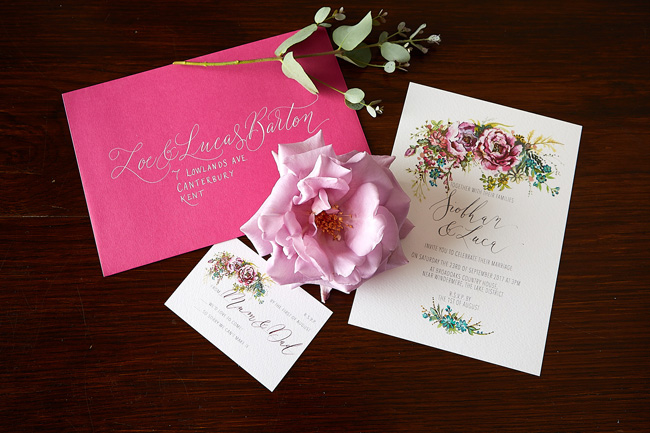 Amy Swann wedding invitations, illustrated wedding stationery (6)