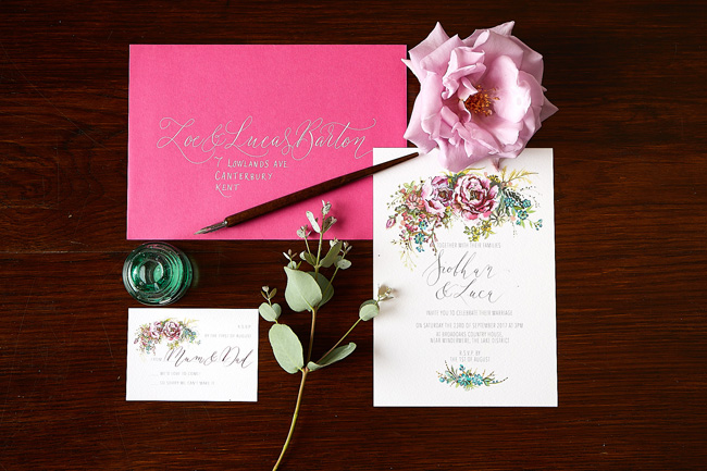 Amy Swann wedding invitations, illustrated wedding stationery (5)