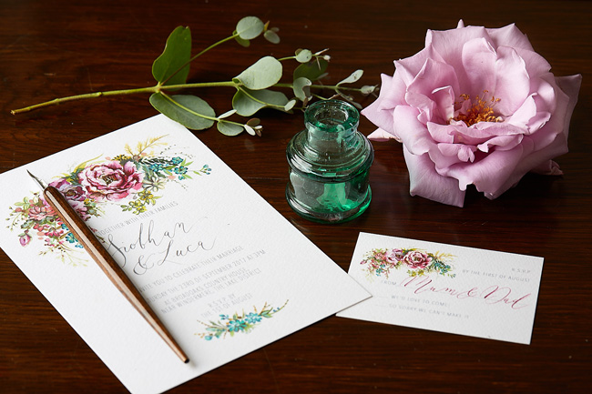 Amy Swann wedding invitations, illustrated wedding stationery (3)