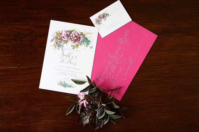 Amy Swann wedding invitations, illustrated wedding stationery (2)