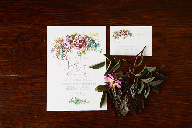 Amy Swann wedding invitations, illustrated wedding stationery (1)