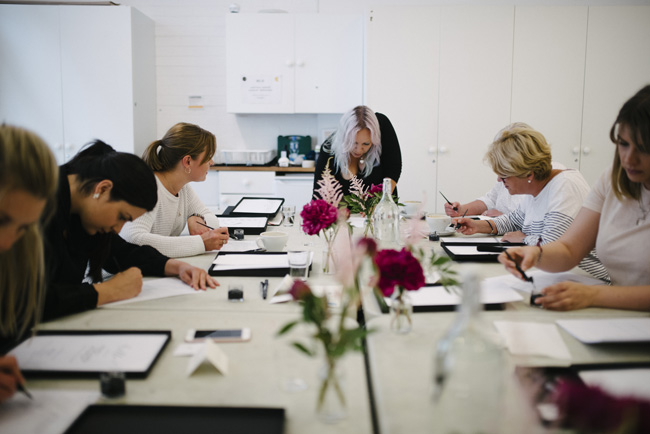Learn calligraphy for beginners in Manchester. Image credit Inbetween Days Photography (4)