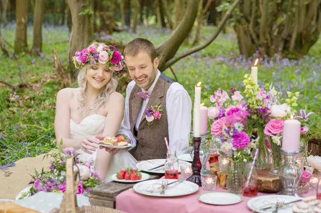 Woodland wedding inspo in Kent with Blue Daisies Florist and Your Beautiful Day. Image credit Helen England Photography (30)